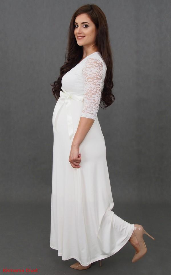Vanda menyasszonyi ruha hosszú ekrü - R D Kismama Divat - webáruház ... 9b510270fa