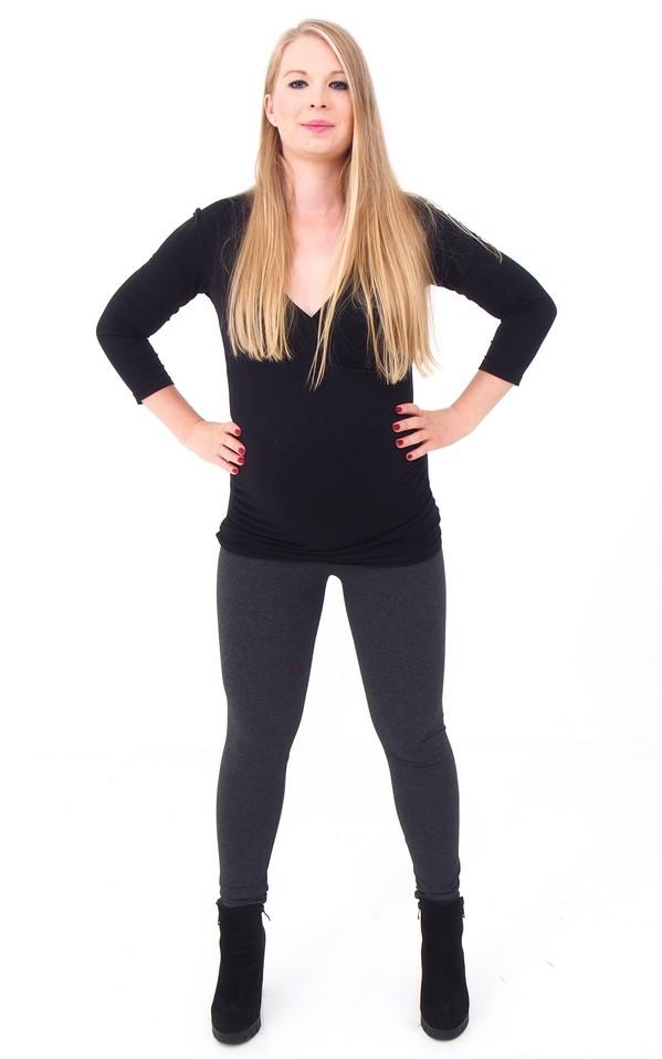 Kismama leggings sötétszürke pamut