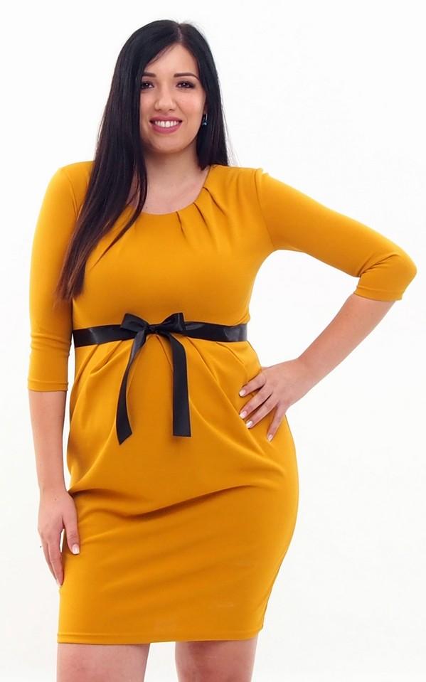 Ágota ruha mustár